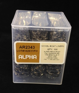 Alpha Resources Africa Product AR2343 in Nickel Capsules/Baskets under Sample Containment.