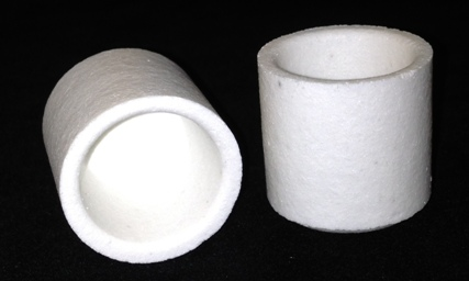 Alpha Resources Africa Product AR3818 in Ceramic Crucibles under Sample Containment.