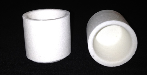 Alpha Resources Africa Product AR8028 in Ceramic Crucibles under Sample Containment.