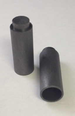 Alpha Resources Africa Product AR9520M in Graphite Crucibles under Sample Containment.