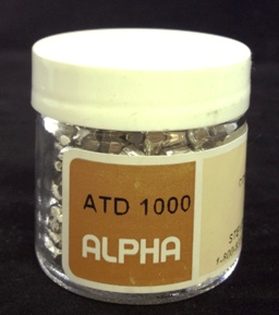 Alpha Resources Africa Product ATD1000 in Tin Capsules under Sample Containment.